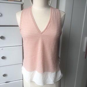 Zara layered sleeveless blouse size small